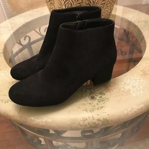Shoes - Black Suede-like Booties.  Like New Condition. 6.5